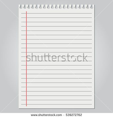 College Ruled Paper Stock Images, Royalty-Free Images & Vectors ...