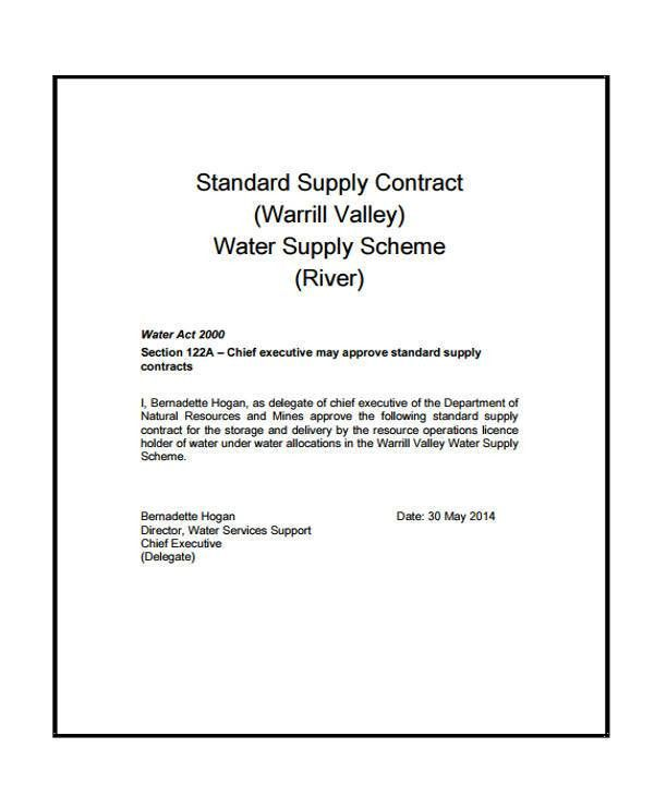 9+ Supply Contract Templates - Sample, Example | Free & Premium ...