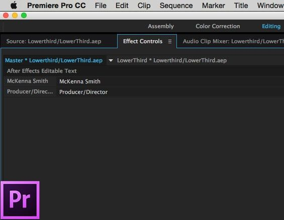 Live Text Templates in After Effects – Ripple Training