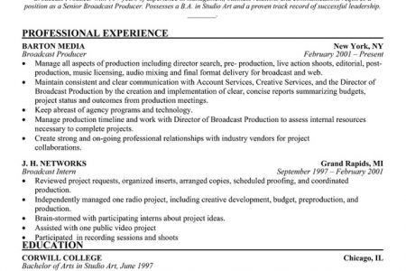 resume producer current. 3. interactive producer resume samples ...