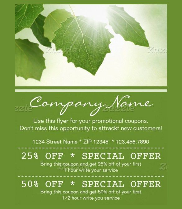 21+ Coupon Flyer Templates – Free Sample, Example, Format Download ...