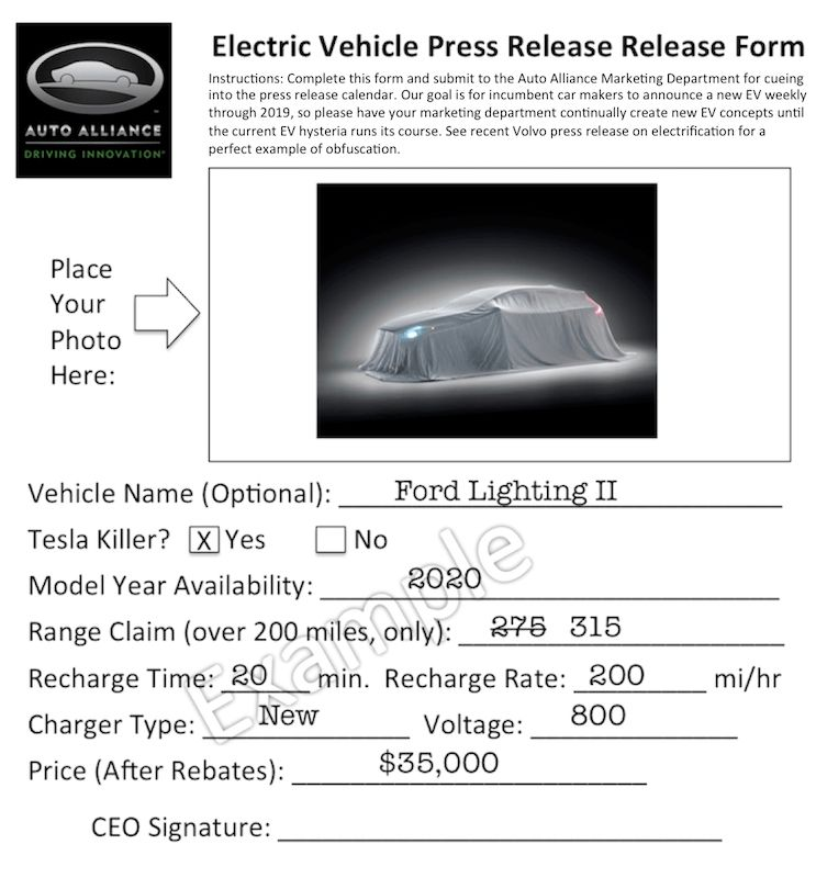 How To: Write Fake EV Press Releases (Template) | CleanTechnica
