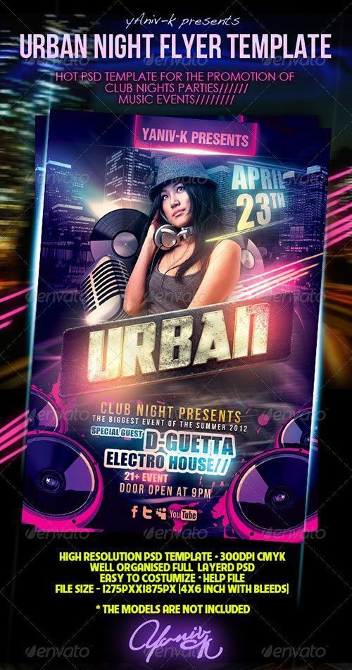 Top 10 Best Urban Party PSD Flyer Templates