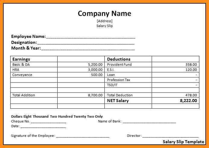 4+ employee salary slip format pdf | parts of resume