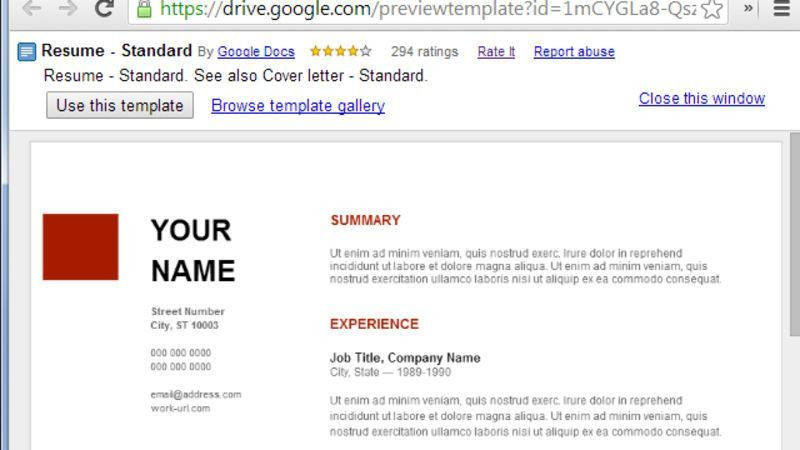 Google Docs Templates Resume - CV Resume Ideas