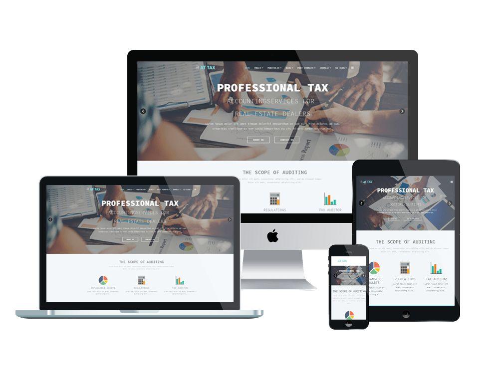 AT Tax – Free Responsive Tax website templates
