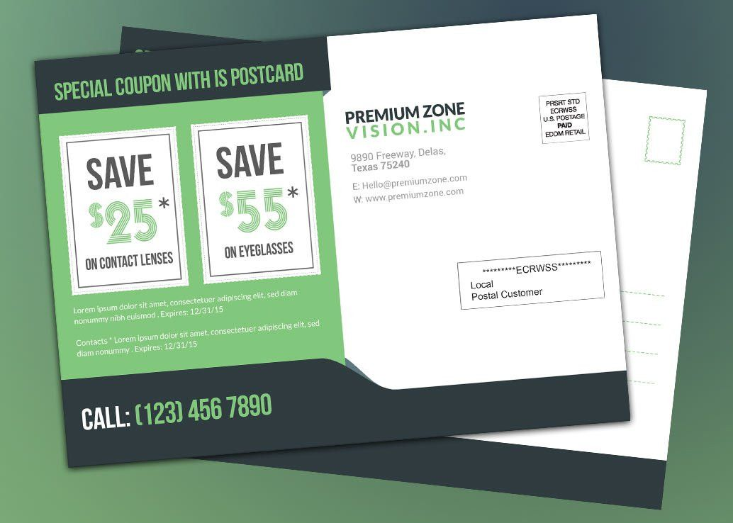Coupon EDDM Template Download Product Promotion