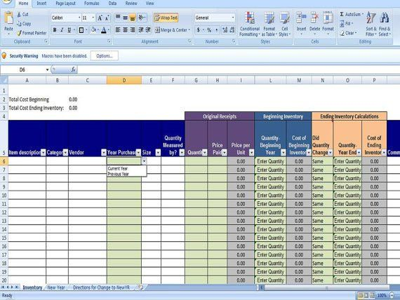 Inventory Control Template - Free Stock Inventory Control ...