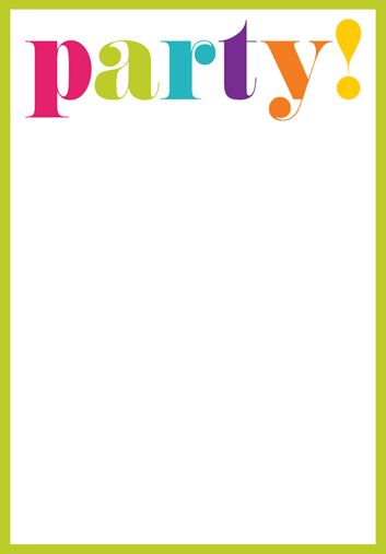 Party Invite Templates | Documents and PDFs