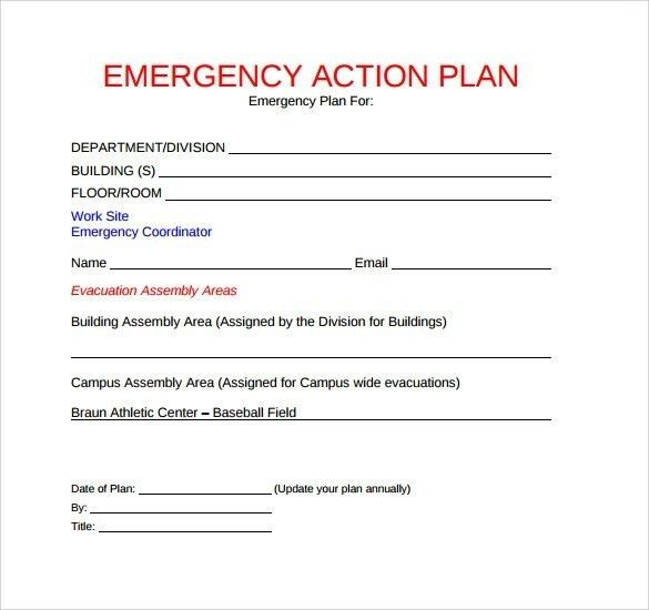 Sample Emergency Action Plan – 10+ Free Documents In Word, Pdf ...