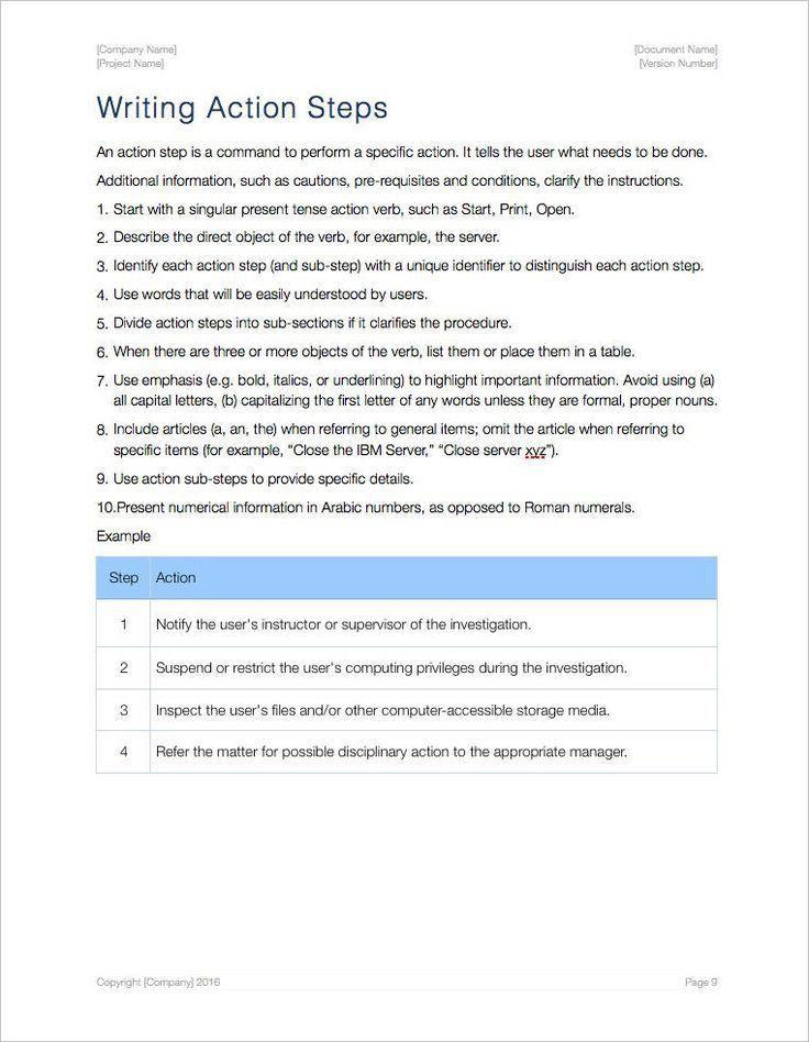 Best 20+ Standard operating procedure template ideas on Pinterest