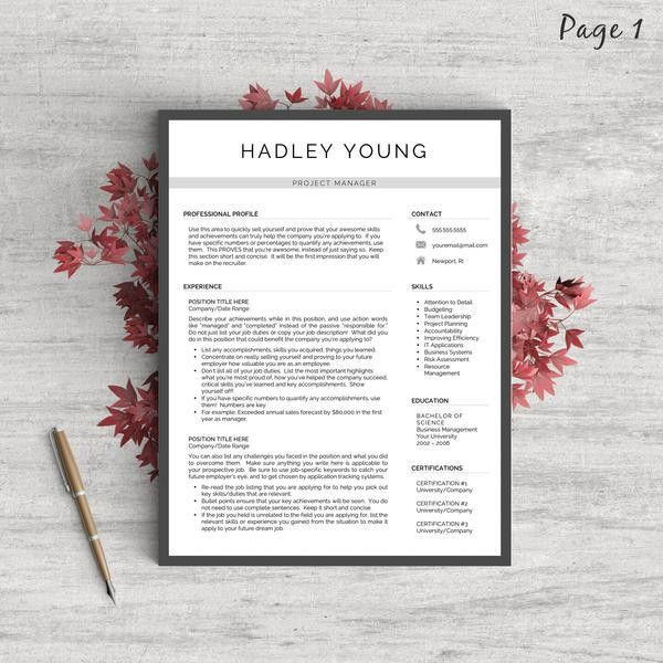 "Modern Resume Templates – Tagged ""Modern Resumes"" – Landed Design ..."