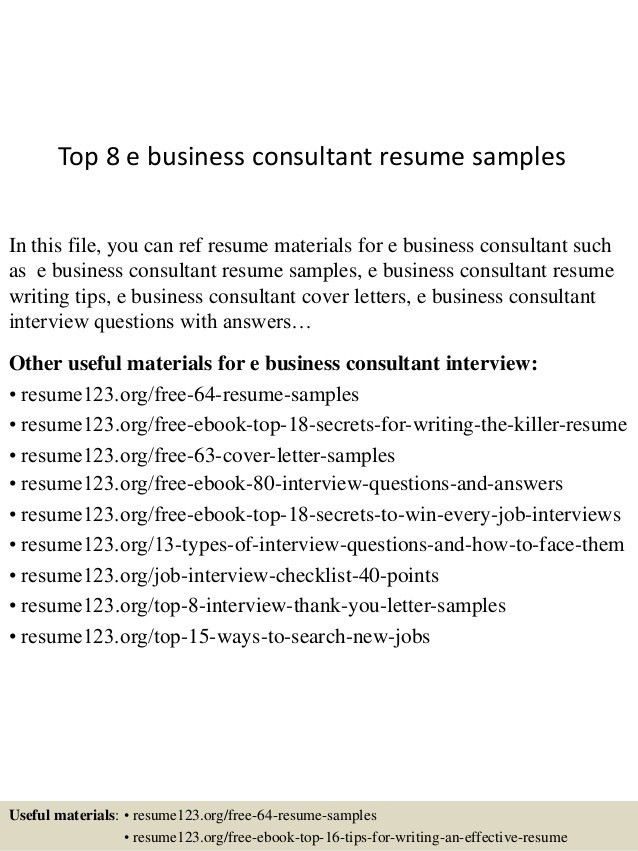 business consultant resume example business resume example sample