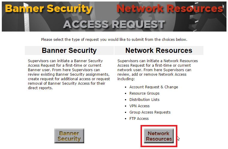 Network Access Requests – OIT Service Desk