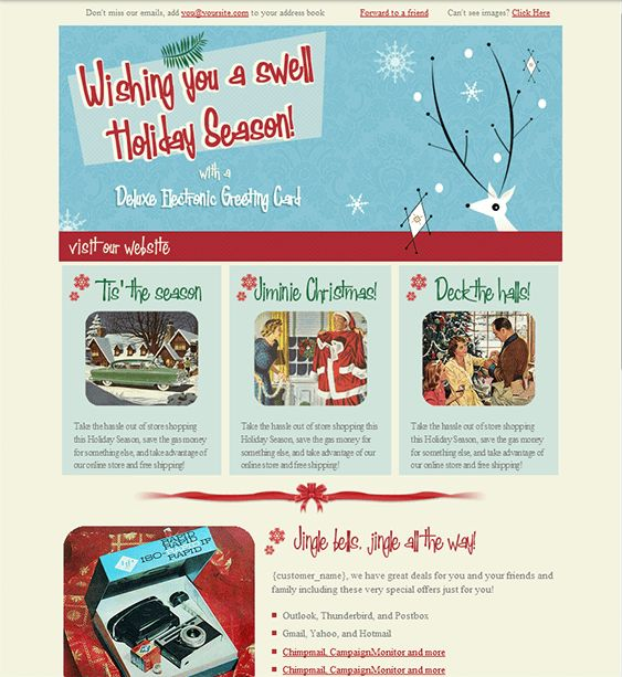 Holiday/Christmas Landing Page & Email Newsletter Templates ...