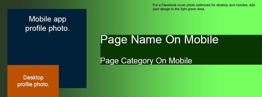 Facebook Cover and Profile Photo Template for Desktop AND Mobile ...