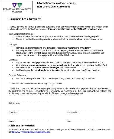 8+ Sample Loan Agreement - Free Sample, Example, Format Download