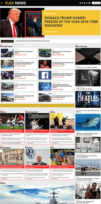 Newspaper Software | Online Newspaper Website Template | Magazine ...