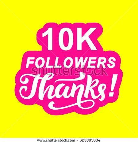10k Followers Thank You Card Template Stock Vector 578390080 ...