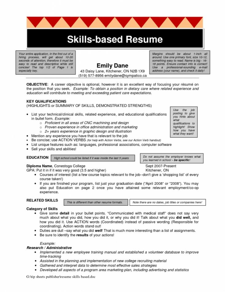 Skills Based Resume Template | health-symptoms-and-cure.com