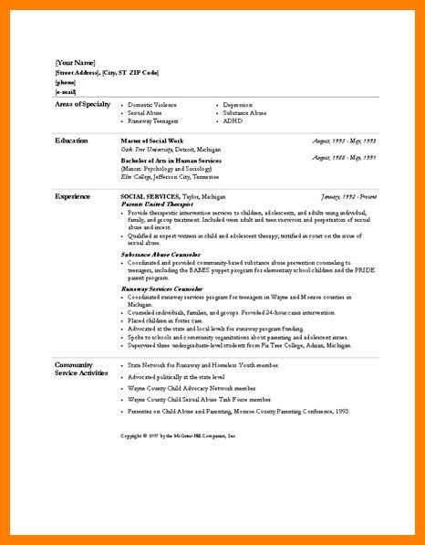 msw resume sample social work worker example amp template choose ...
