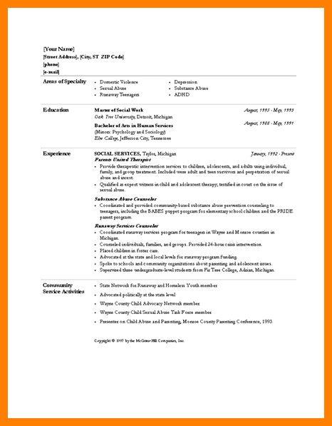 msw resume sample social work resume sample writing guide resume