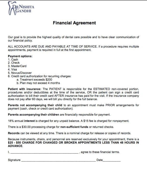 financial-agreement-form-bronxdds | Bronx DDS