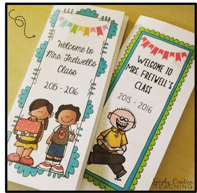 Editable Back To School Brochures / Pamphlets - Great for open ...