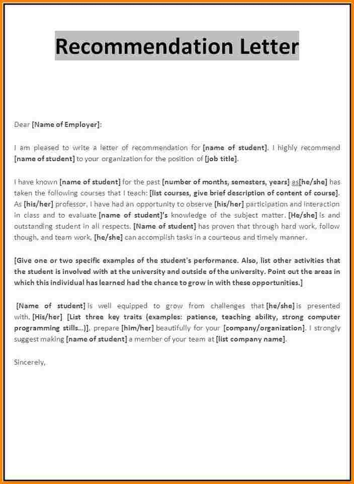 6+ recommendation letter format for scholarship | quote templates