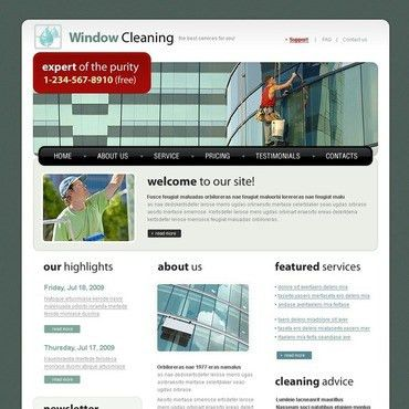 Window Cleaning Website Template #23801 by WT - Website Templates