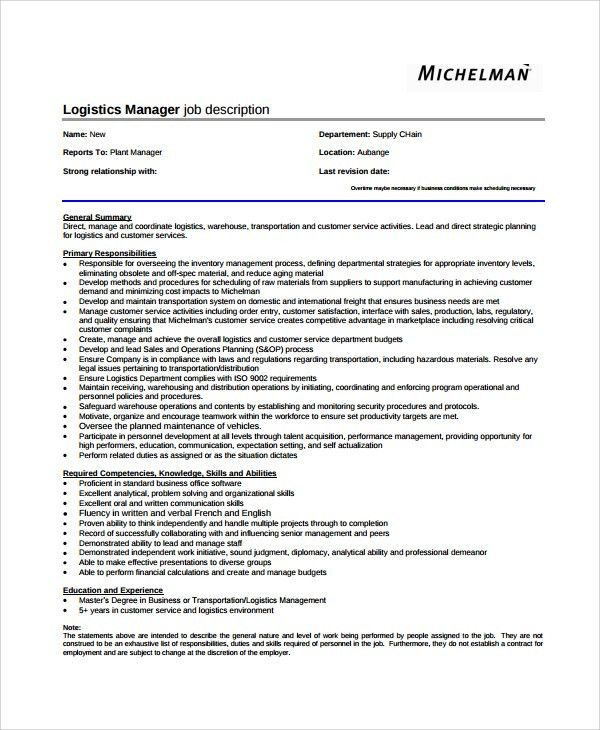 Plant Manager Job Description. Operations Manager Resume Best ...