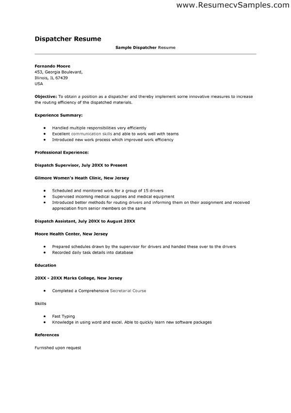 dispatcher resume objective professional 911 dispatcher templates