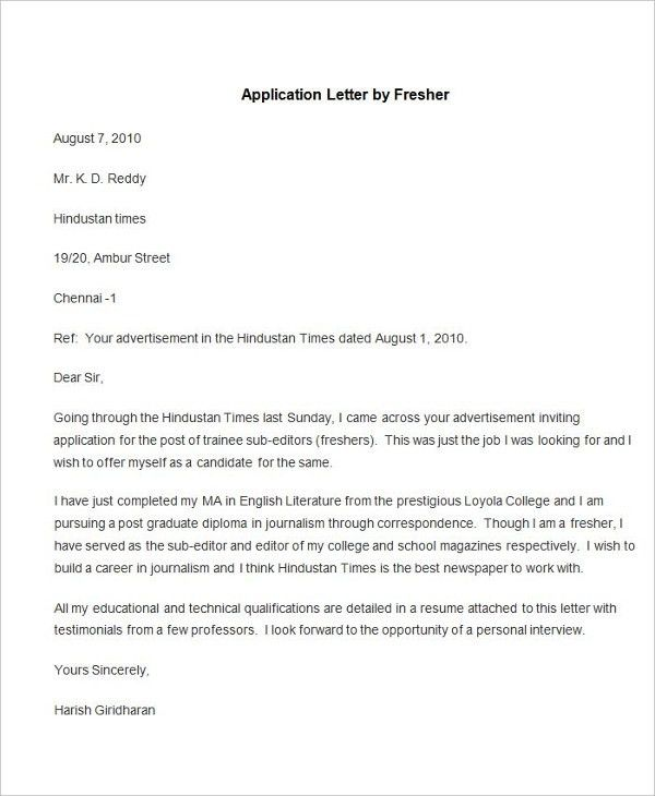 55+ Free Application Letter Templates | Free & Premium Templates