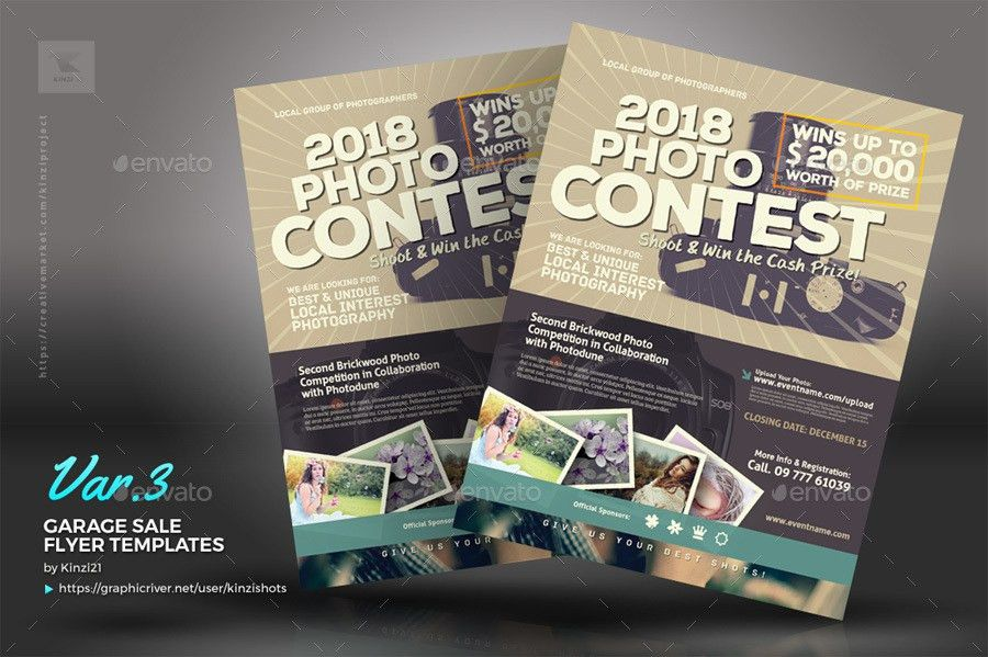 Photo Contest Flyer Templates by kinzishots | GraphicRiver