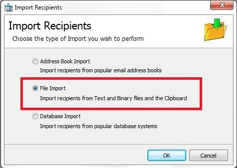 Importing Email Contacts from a .csv File into GroupMail