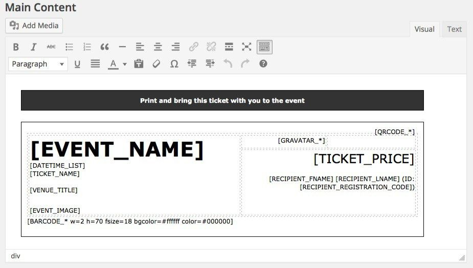 how to make tickets for an event