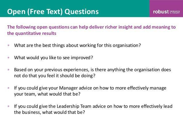 Employee Survey Template. Questionnaire Sample Employee Survey ...