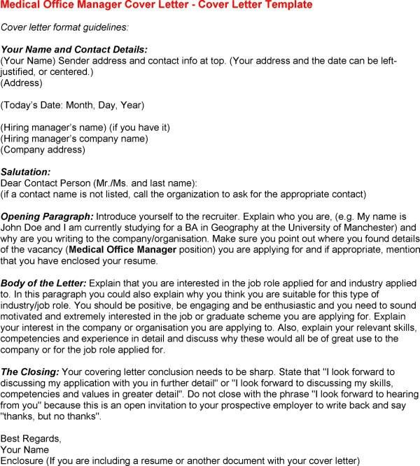 Medical Office Administrator Cover Letter