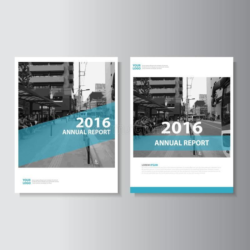 Blue Vector Annual Report Magazine Leaflet Brochure Flyer Template ...