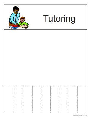 Tutoring Flyer | Bea's Must Acquire List | Pinterest