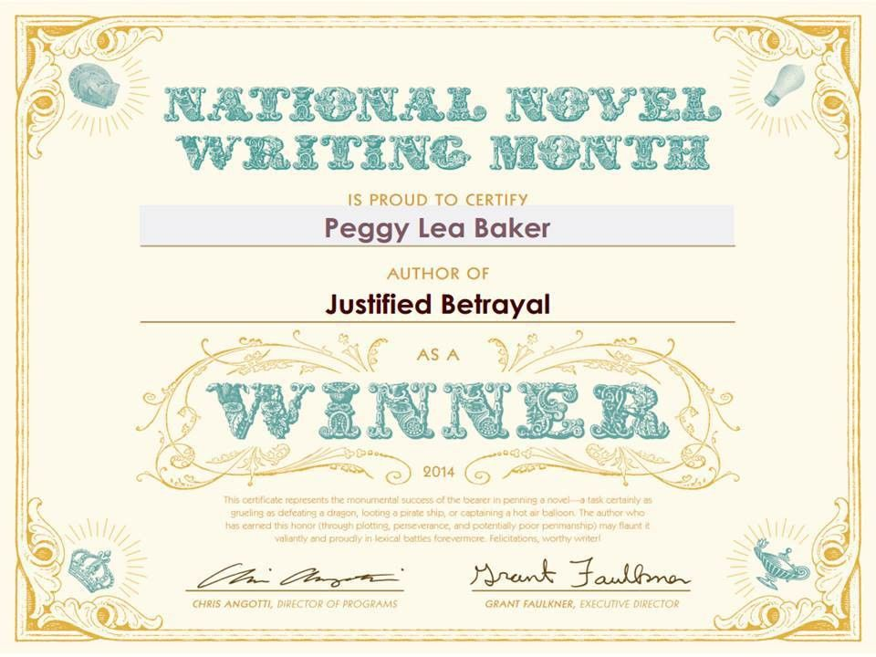 A Winner! – NaNoWriMo Challenge 2014 – Peggy Lea Baker