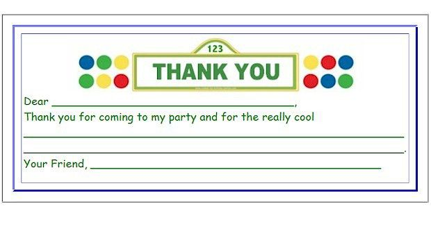 Kids Thank You Cards - Free Printable Cards for Kids