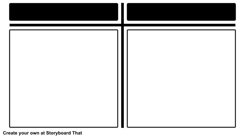 T-Chart Graphic Organizer | Storyboard T Chart Templates