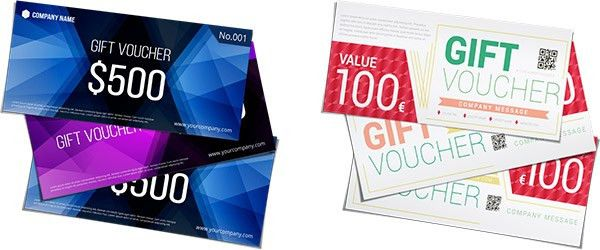 Gift vouchers: Make your own online and for free