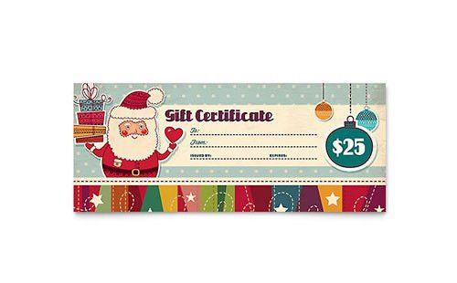 Christmas | Gift Certificate Templates | Holiday & Seasonal