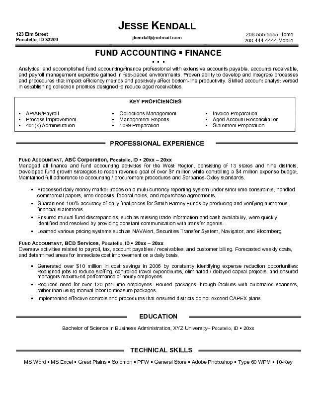 Entry Level Staff Accountant Resume Examples | Template Design