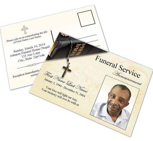 Funeral Invitation Cards | PaperInvite