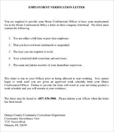 Employee Verification Letter - 10+ Free Word, PDF Documents ...