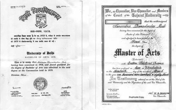 Narendra Modi's degree 'authentic': Delhi University Registrar ...