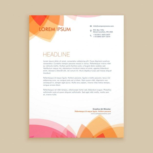 Beautiful letterhead design Vector | Free Download